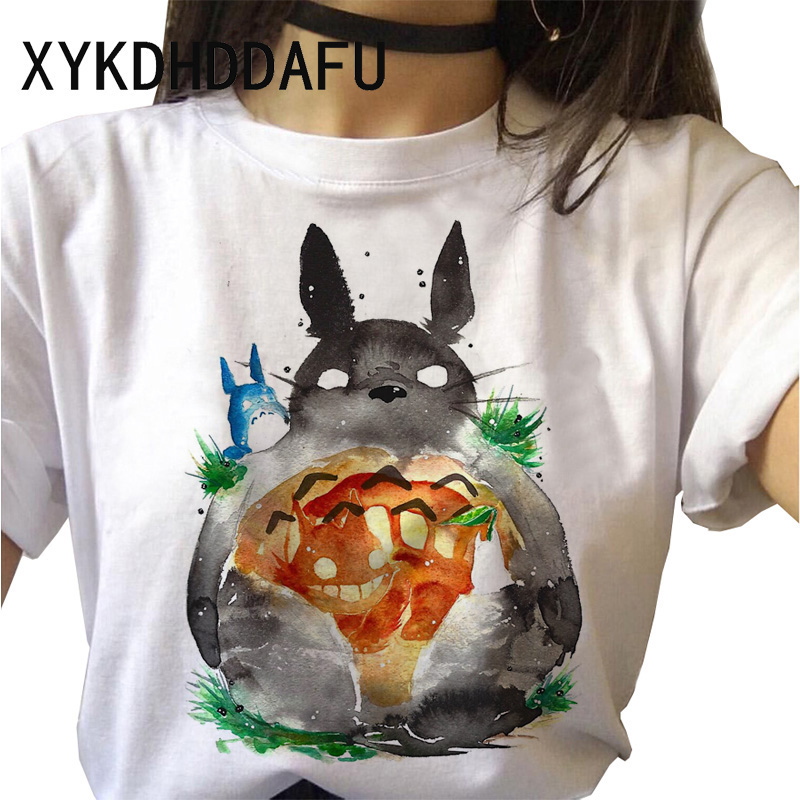 H3c984fcdf8514be3bd7f01bbca982a72X - Totoro T Shirt Women Kawaii Studio Ghibli Harajuku Tshirt Summer Clothes Cute Female ulzzang T-shirt Top Tee japanese Print