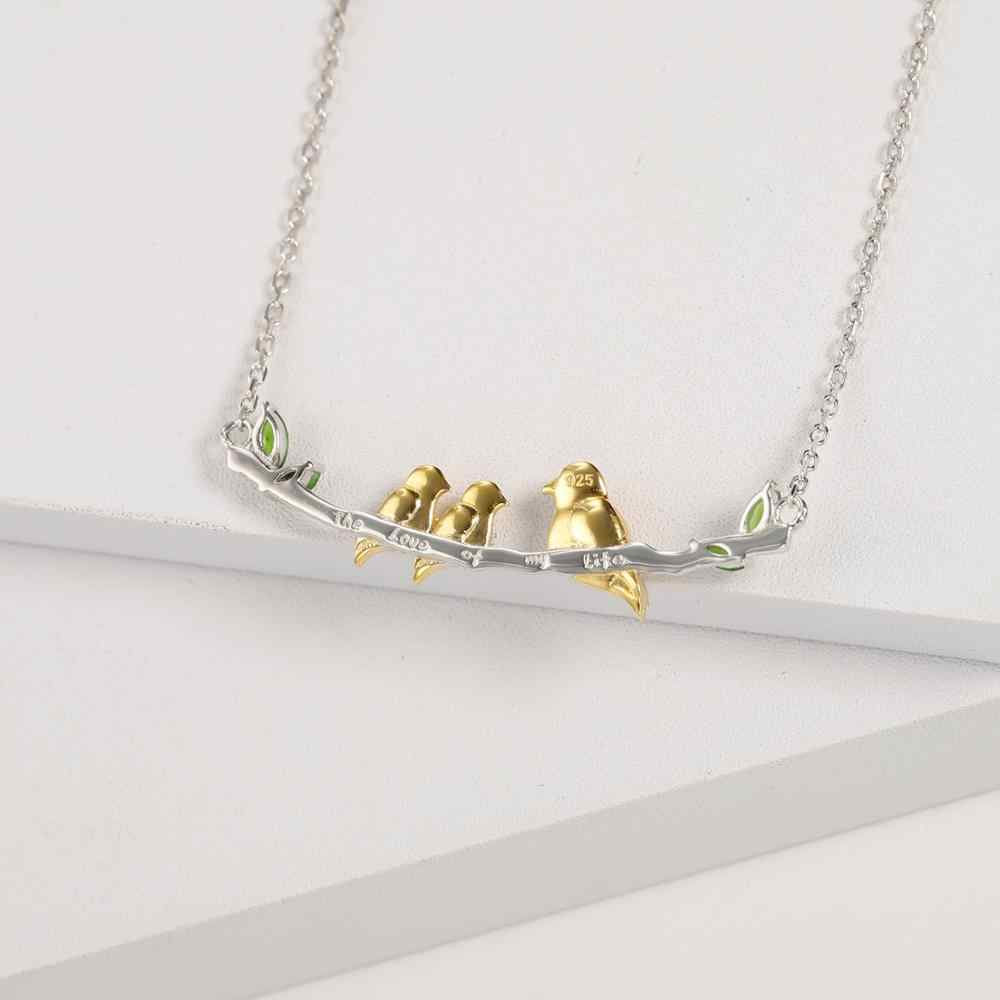 """Gem's Ballet 925 Sterling Zilveren Edelstenen """"De Liefde Van Mijn Leven"""" Graveren Nestlings Onder Een Mama 'S Wing moeder Vogel Ketting"""
