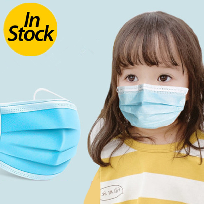 20-100 PCS Children Anti-dust Face Mouth Mask High Quality Anti PM 2.5 Elastic Disposable Dustproof 3 Layers Of Defense Kids