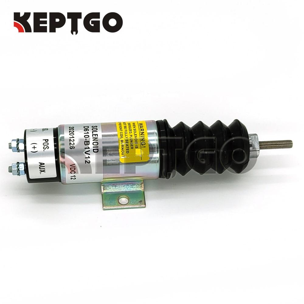 nova bobina dupla puxar solenoide d610 b1v12 d610b1v12 para kubota d905 motor 12v