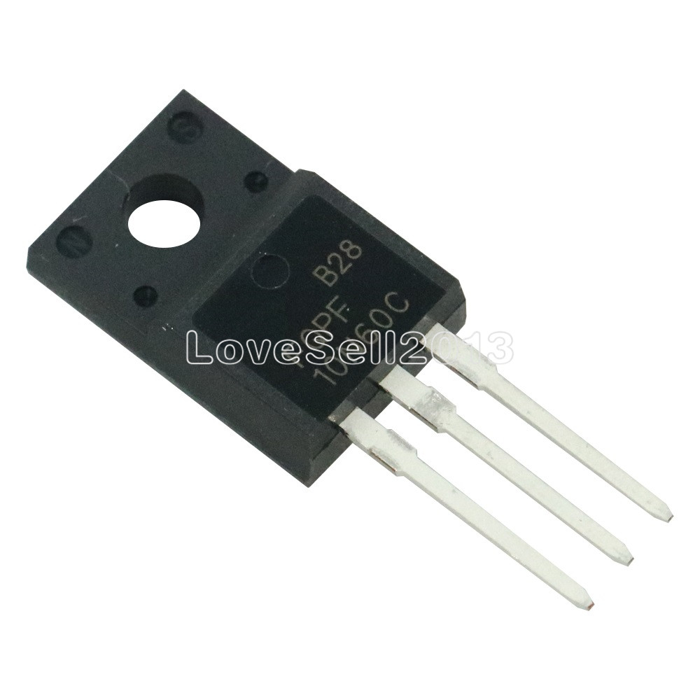 10pcs FQPF10N60C TO-220 10N60 TO220 10N60C 10A 600V MOSFET N-Channel Free Shipping IC