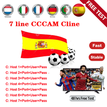 2020 HD 1 Year CCCAM 7 lines Cline Server Account For Satellite receiver Spain UK Germany French Italy DVB-S2 Support Cccam line