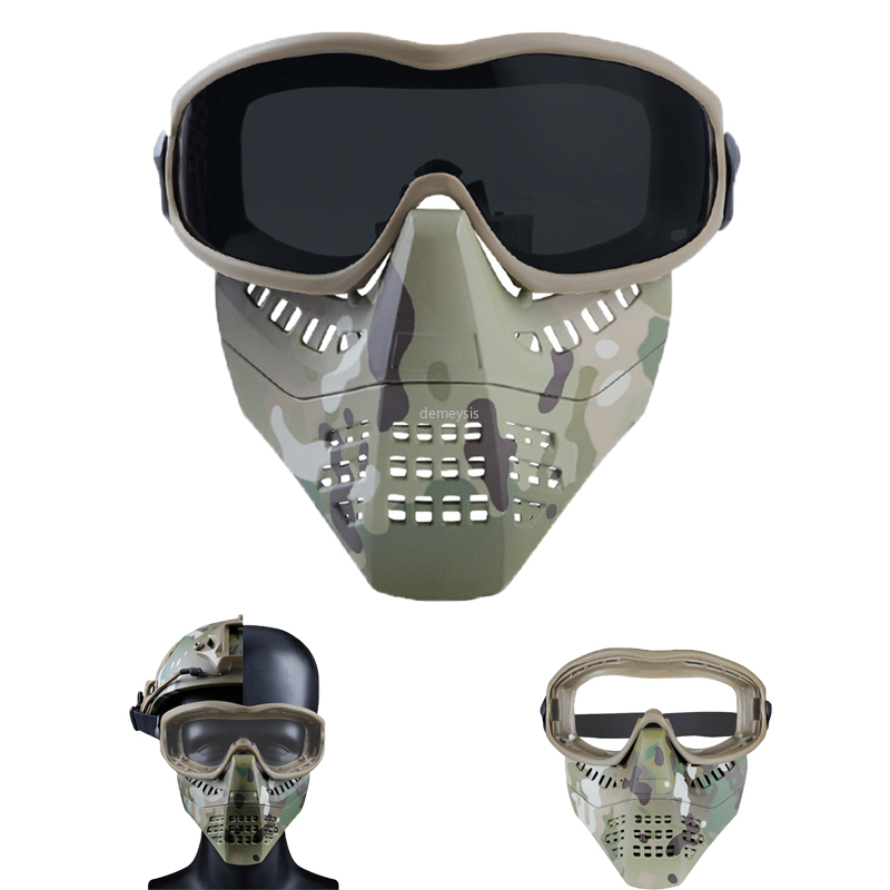 Airsoft Paintball Tactical Masks Lightweight Full Face Hunting Shooting  Military Masks Men Women Outdoor Hunting Combat Mask