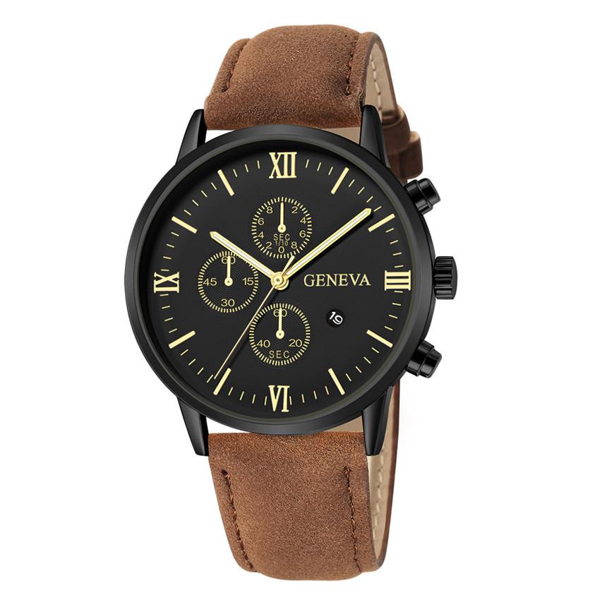 2021 Relogio Masculino Watches Men Fashion Sport Stainless Steel Case Leather Strap Watch Quartz Business Wristwatch Reloj Hombr