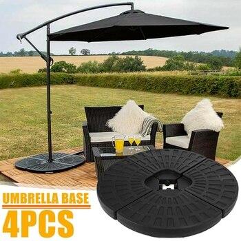 Portable Durable Outdoor Parasol Garden Umbrella Base Stand Round Patio Beach Garden Patio Umbrella Sun Shelter  - buy with discount