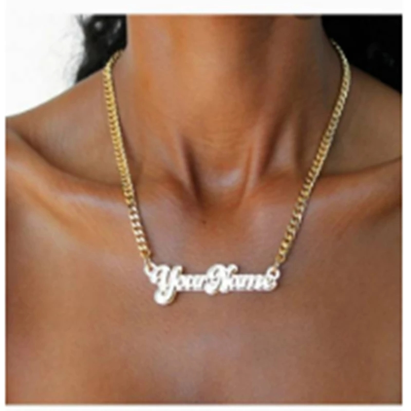 Fashionable New Acrylic Custom English Name Necklace Suitable for Ladies and Girls Jewelry