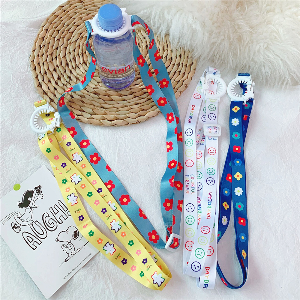 Travel Accessorie Woman Flower Water Bottle Buckle Suitcase Luggage Bag Portable Mineral Water Carry Strap Organizer Security