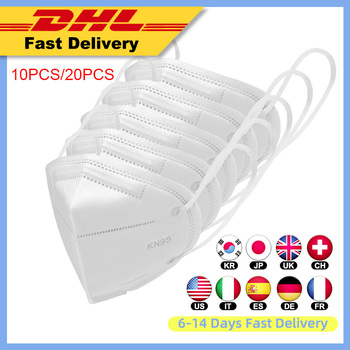 20pcs DHL 4-layers KN95 face Mask respirator Anti-dust PM2.5 Face Mask Disposable Kids adult 95% Filtration KN95 mouth masks