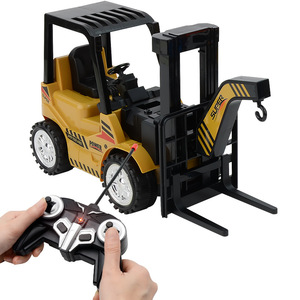 1/8 Size 11CH RC Trucks RC Car Simulation Forklift Crane RTR Engineer Vehicle Toy Children Music Remote Control Car Toys Gift