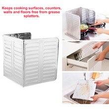 Shield-Guard Kitchen Anti-Splatter Screen-Cover Oil-Divider Frying-Pan Aluminum-Foil