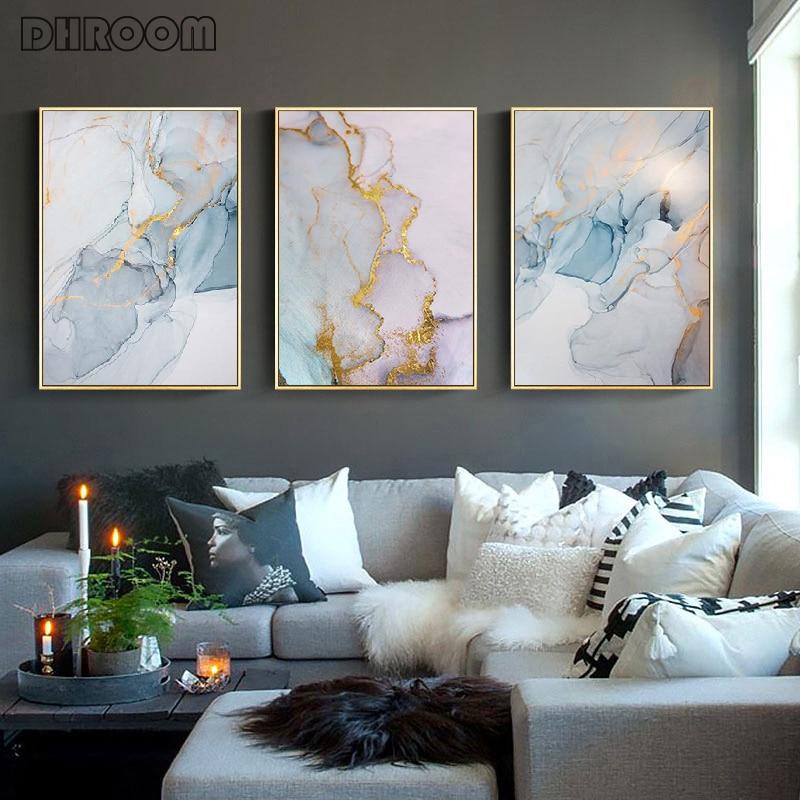 Lámina de oro arte lienzo pared arte cartel nórdico abstracto colorido textura impresión pintura decorativa imagen moderna hogar Decoración