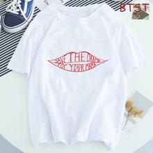 Camiseta feminina salvar o drama para sua mamã camiseta gráfica estética kawaii streetwear harajuku camiseta