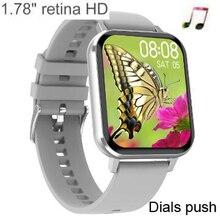 "DTX 1.78 ""HD ساعة ذكية الرجال معدل ضربات القلب ECG ضغط الدم Smartwatch 2020 الرياضة اللياقة البدنية سوار ل ios أندرويد هواوي شاومي"
