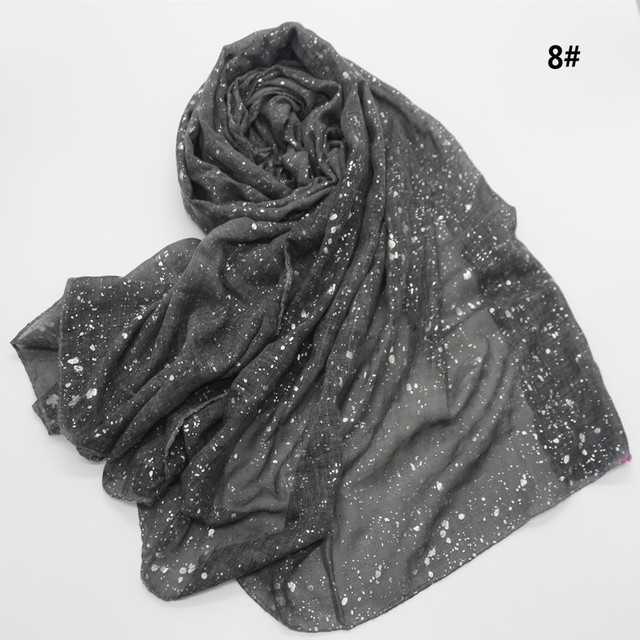 Новый мусульманский хиджаб 90*180 см, шарф для женщин, исламский мягкий Блестящий головной платок, женский платок, простые шали и палантины, Женский палантин