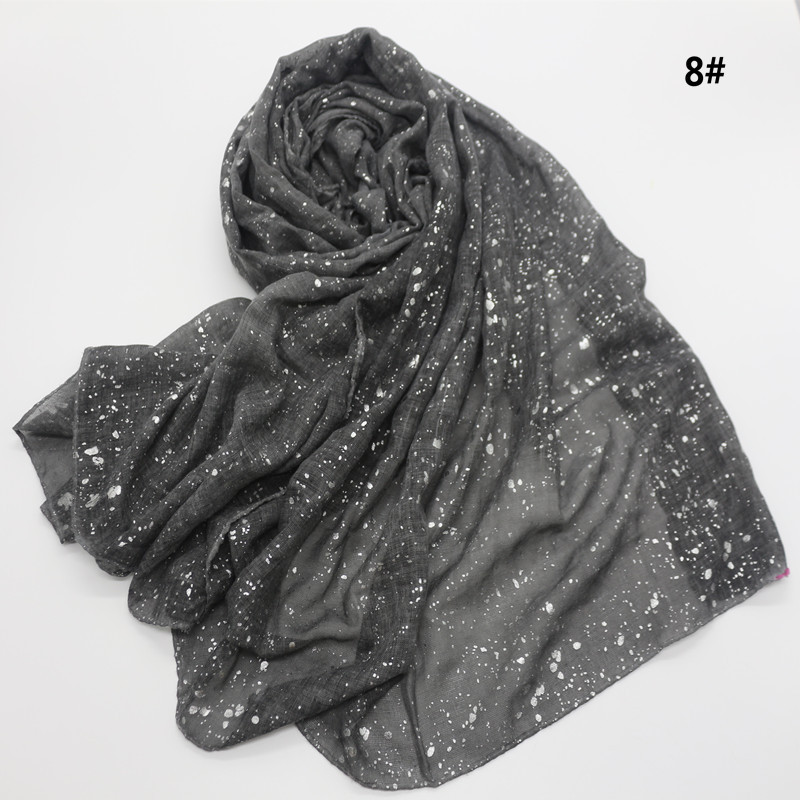 90*180cm NEW muslim hijab scarf for women islamic soft glitter 