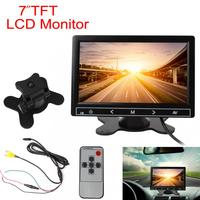7 Inch Color TFT LCD Car Rear View VCR Monitor RGB Digital Display 2 Video Input Auto Reverse Rearview Backup Parking Monitor