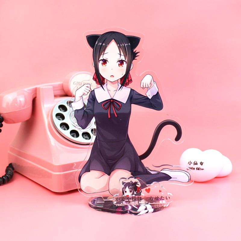 Anime Kaguya-sama Wa Kokurasetai Tensai-tachi No Renai Zuno-sen Big Stand Plate Acrylic Cartoon Figure Stand Holder Model