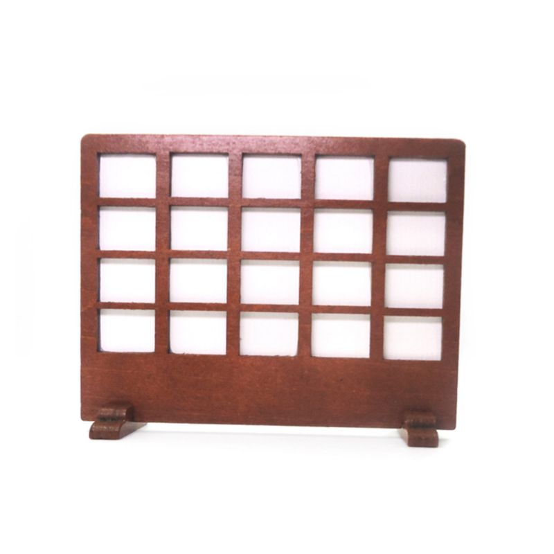 1:12 Miniature Dollhouse Furniture Wooden Panel Screen Window Mini Doll House Accessories Living Room Decoration