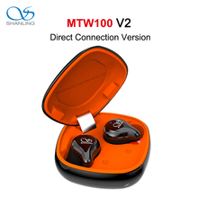 Shanling MTW100 V2 tws bluetooth 5.0トゥーレワイヤレススポーツイヤホンイヤフォンを実行しているヘッドフォンaac/sbc IPX7防水