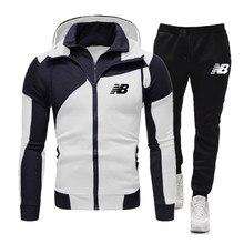 2021brandnewmenmens outono inverno impresso moletom calças superiores define esportes terno de fitness jogging