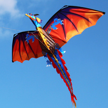 2021 New 3D Dragon Kite With Tail Kites Colorful Kite 3D Kites Funny Outdoor 100m Kite Line Surf Flying Game Toys for Kids Adult