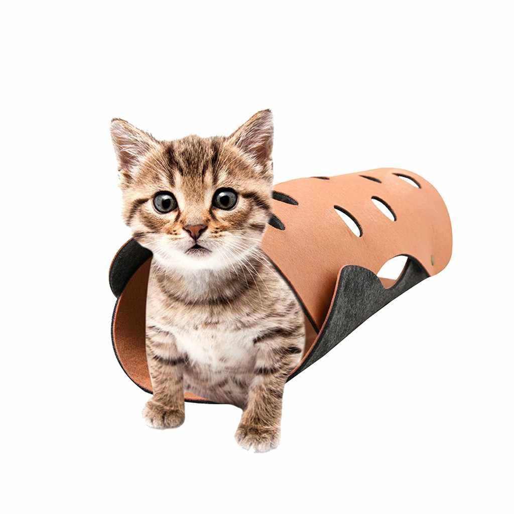 고양이 조합 터널 매트 바느질 접는 고양이 놀이 채널 롤 장난감 2 pcs 가정용 액세서리 2019 새로운 도착 베스트 셀러