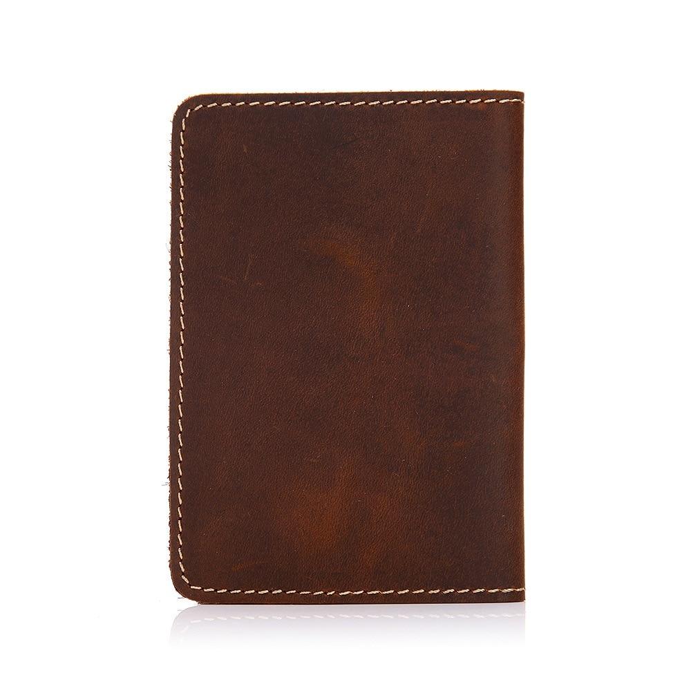 Leather Card Case Passport Holder