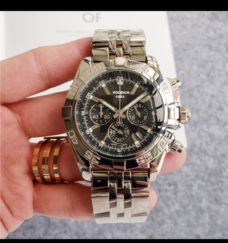AaaWatch Men's Fashion Well-known Brand, Full-featured Quartz Watch, High-quality Leather Strap.