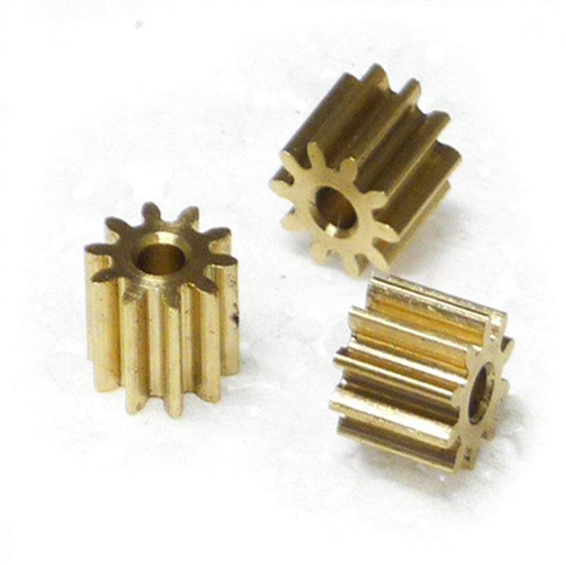0.5 Modulus Brass Spur Gear Pinion Micro Motor For 3D Printer 10T 11T 12T 13T-24T Bore 2/2.5/3/3.17/4mm Qty 5PCS