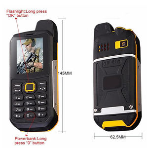 "Image 5 - F68 IP67 방수 전원 은행 휴대 전화 2.2 ""Shockproof 시끄러운 스피커 강력한 손전등 듀얼 SIM 수석 야외 견고한 전화"
