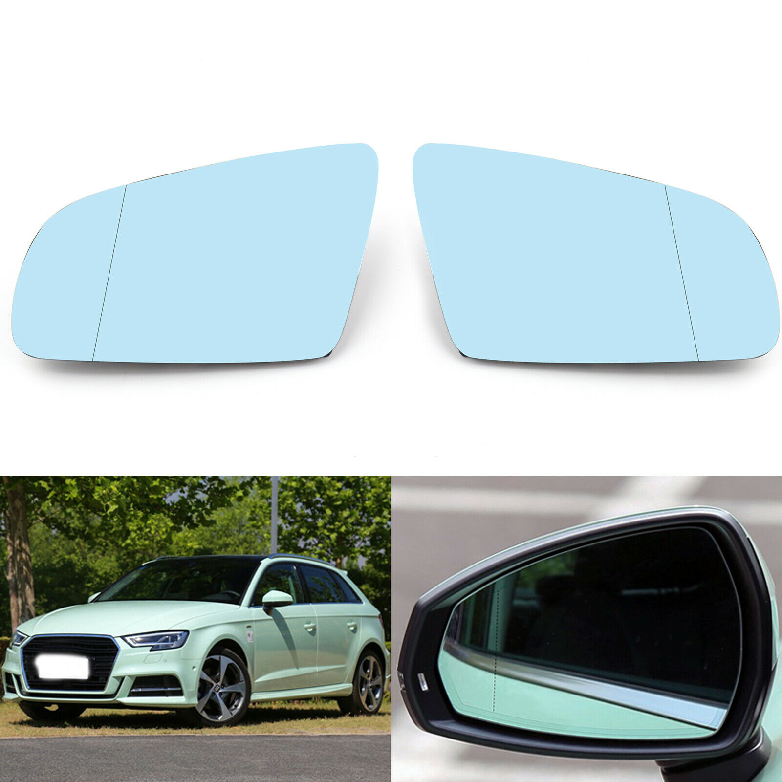 For Mercedes <font><b>Benz</b></font> S-Class CL-Class <font><b>W220</b></font> C215 CL500 <font><b>S500</b></font> 1999 2000 - 2003 Car RearMirror Glass Anti-glare Blue Glass Wing Side image
