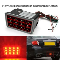 Red reflector clear Lens LED Rear Fog Brake Light Tail Lamp For 11 18 Subaru WRX STI Impreza XV