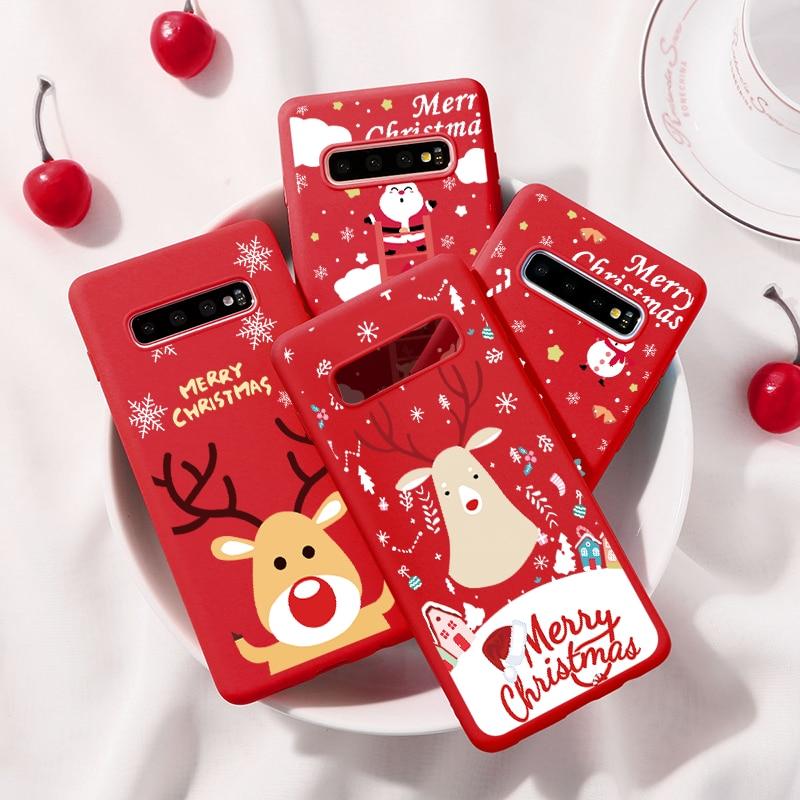 Christmas Deer Soft TPU Samsung Galaxy Cover