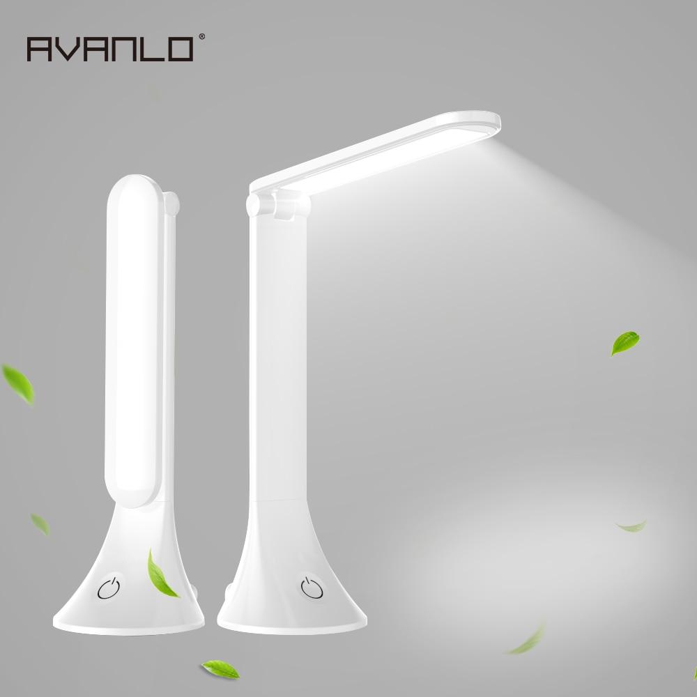 LED מגע מנורת שולחן מתקפל USB מופעל 3 עמעום מנורת שולחן LED הגנת עין קריאת אור תלמיד עבודה שולחן אור לאמפה