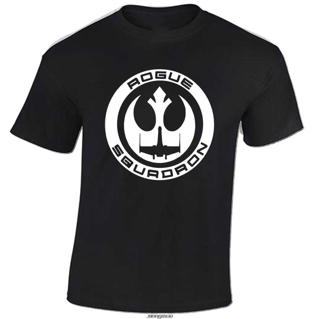 Camiseta del Escuadrón ROGUE STAR hombres TROOPER WARS REBEL FIGHTER X WING envío gratis Harajuku camisetas moda clásica