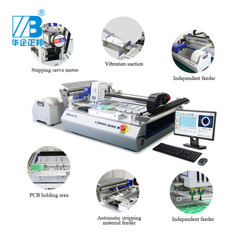 Surface Mount Mounter Vision Visual Placement Led Printer Line Smd Smt Pick And Place Machine Small Production stable smt550 pick place machine surface mount machine for smt line with 4 heads conveyor tbi ball screw