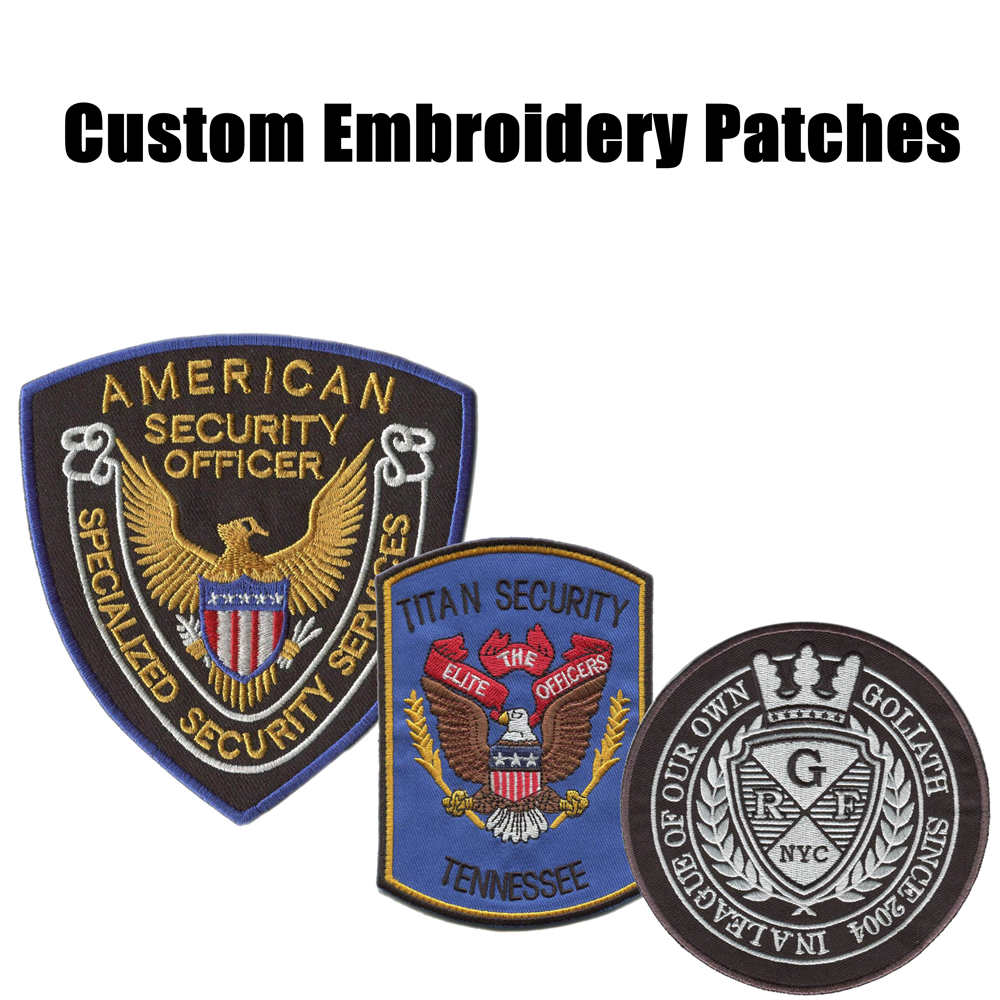 Creat Custom Security Patches Embroidery Patches For Clothing Iron On Backing Uniform Patch