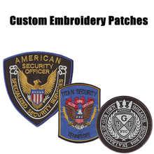 Creat Gewohnheit Sicherheit Patches Stickerei patches Für Kleidung Eisen auf Sichern Uniform Patch