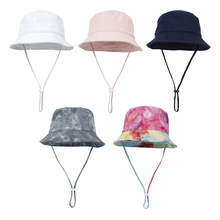 2021 New Baby Hat Summer Spring Panama Baby Sun Hat Tie-dyed Kids Bucket Hat Baby Cap for Girls Boys 6 Colors