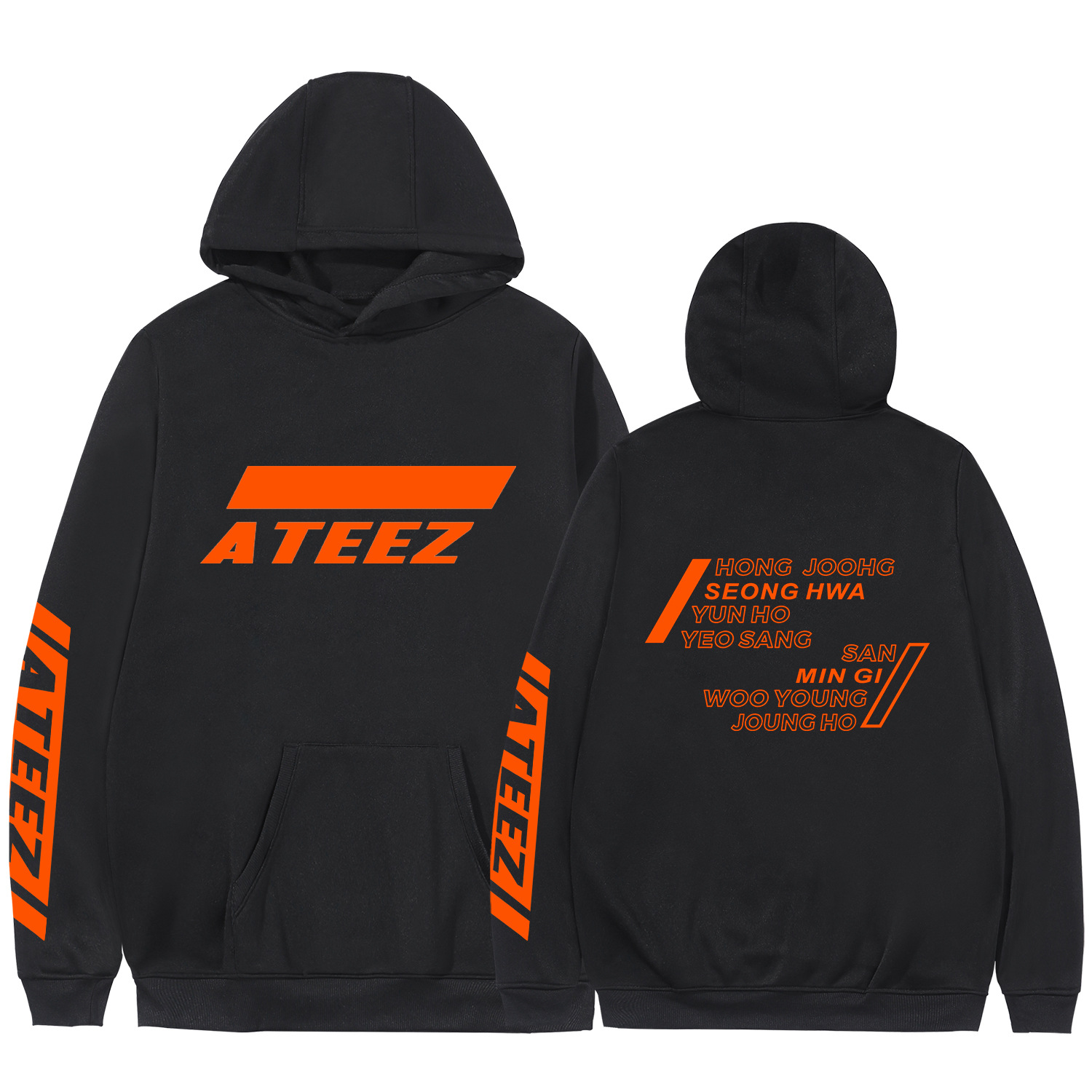 Ateez South Korea Cutting-Edge Combination Europe And America Fashion Hooded Sweater Overstock