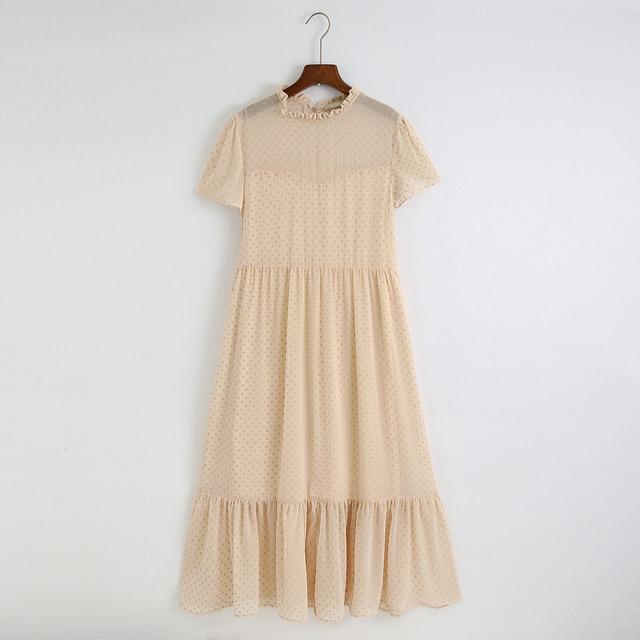 nice simple wear chiffon bottom dress 4