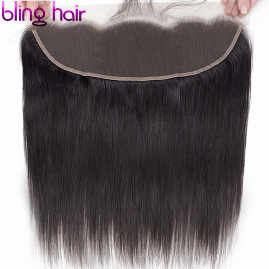 Bling Hair 24 Inch HD Transparent 13x4 Lace Frontal Closure Brazilian Straight Human Hair Closure Ear to Ear Closure Remy Hair