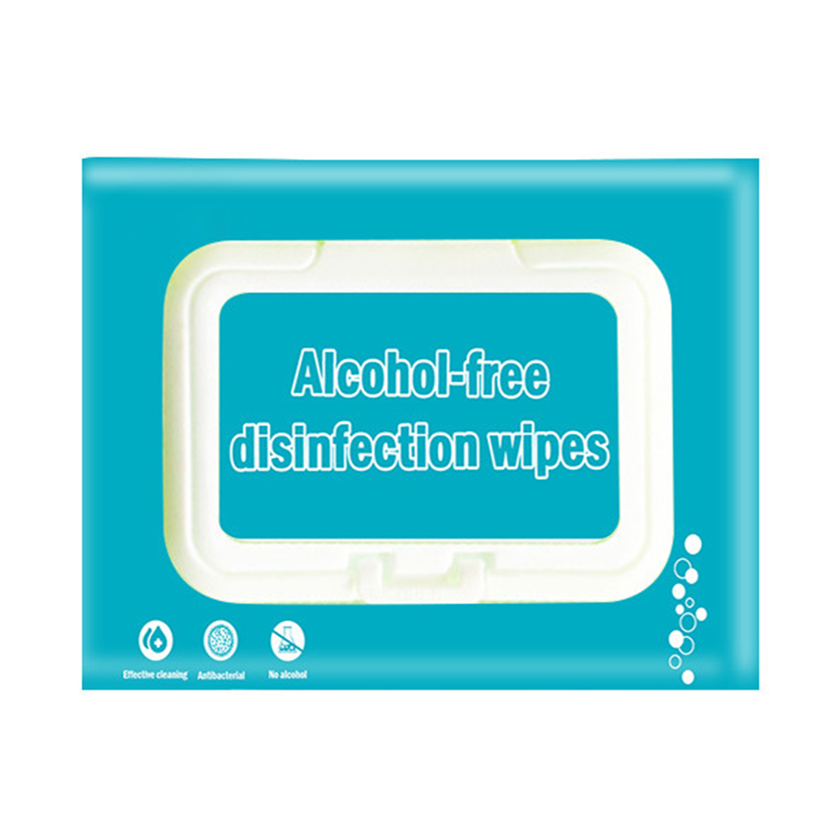 80pcs Portable Disposable Disinfection Wipes Non-Woven Hand Cleaning Wipes Alcohol-Free Anti-Bacterial Non-Irritating Wipes