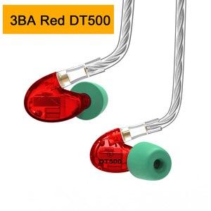 Image 4 - NICEHCK DT600 6BA/DT500 5BA/DT300 Pro 3BA привод Внутриканальные наушники 6/5/3 сбалансированные арматурные съемные MMCX HIFI спортивные наушники