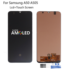 Amoled For Samsung Galaxy A50 SM-A505FN/DS A505F/DS A505 LCD Display Touch Screen Digitizer Assembly For Samsung A50 LCD