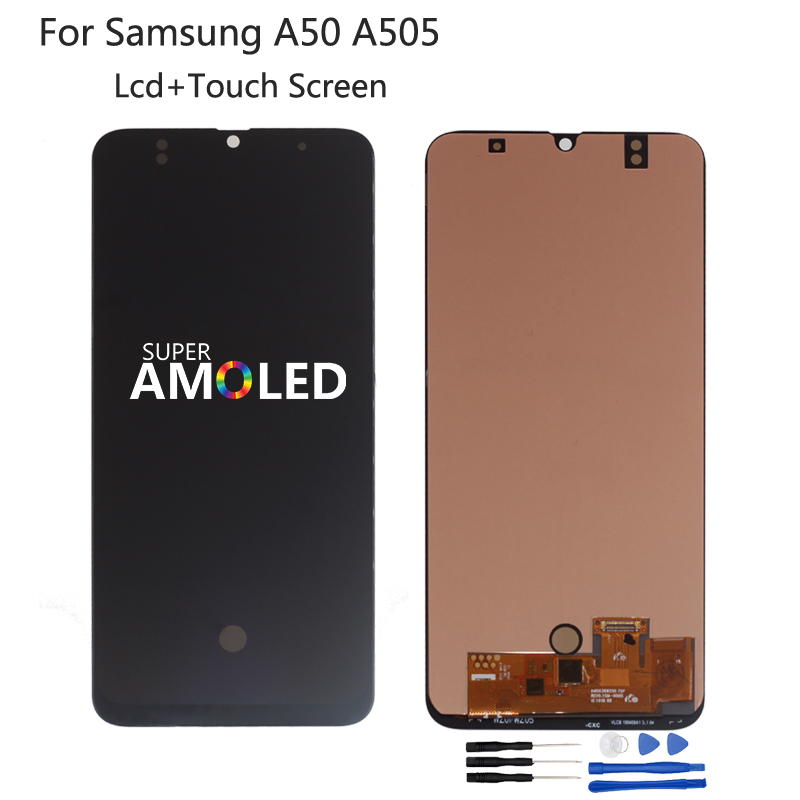 Amoled For <font><b>Samsung</b></font> Galaxy A50 SM-A505FN/DS A505F/DS A505 LCD Display Touch Screen Digitizer Assembly Incell For <font><b>Samsung</b></font> A50 LCD image