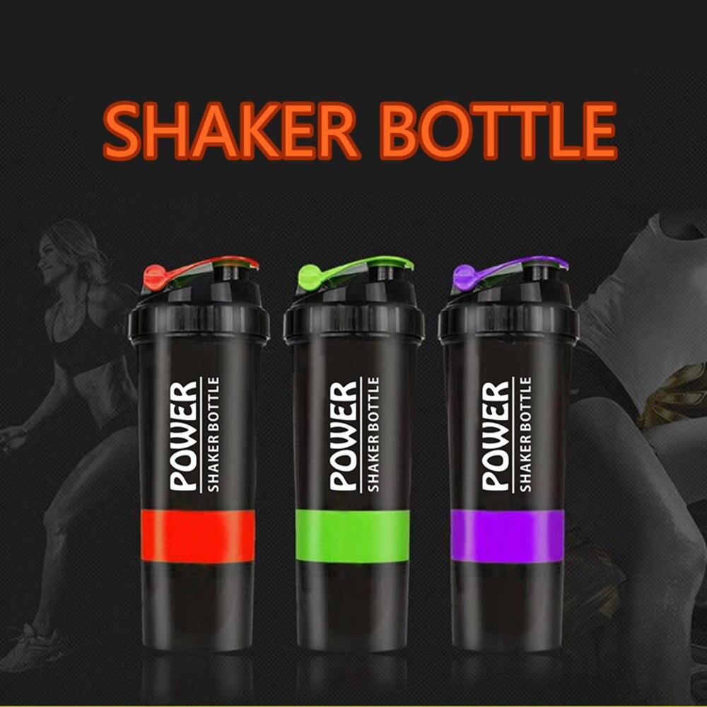 Yaratıcı Protein tozu Shaker şişe spor spor karıştırma peynir altı suyu Protein su şişesi spor Shaker spor salonu için güçlü sızdırmaz