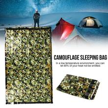 Outdoor Emergency Sleeping Bag Large Double Camouflage First Aid Thermal Blanket Camping Tent