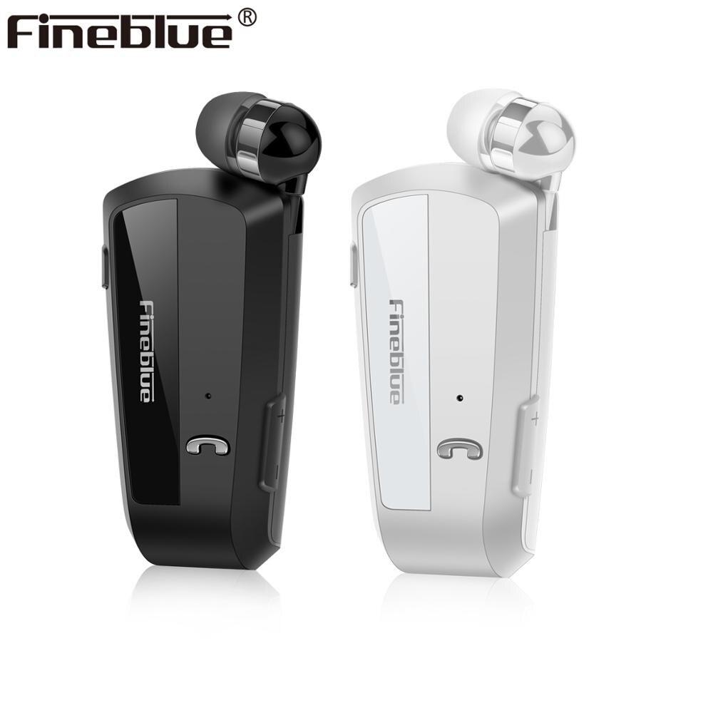 Fineblue f990 mais novo negócio sem fio bluetooth fone de ouvido esporte motorista clipe telescópico sobre estéreo vibração earbud luxo