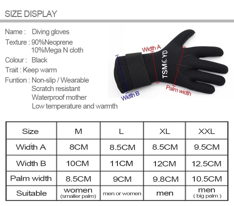 3mm 5mm Neopren Handschuhe Männer